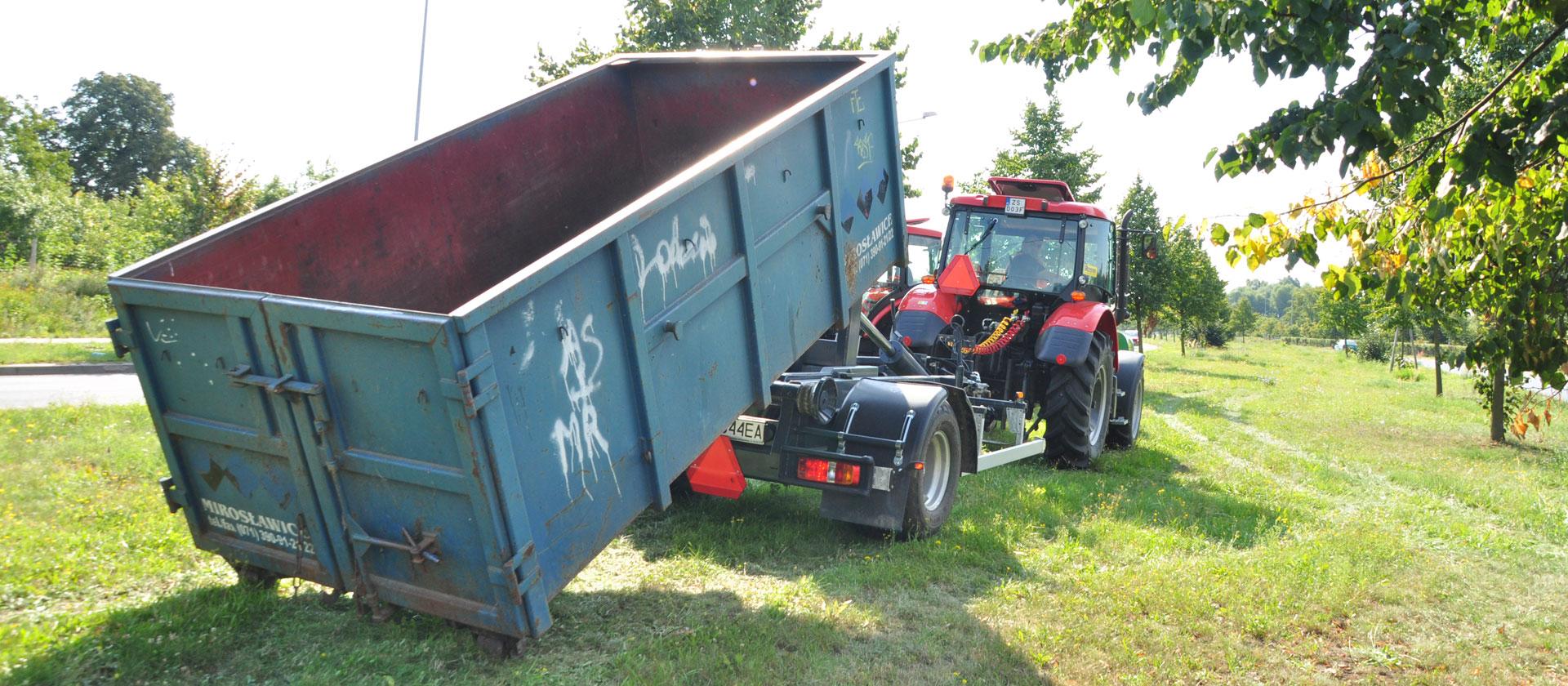 Dzierżawa kontenerów, zbieranie i transport odpadów